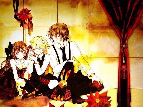 Tags: Anime, Mochizuki Jun, SQUARE ENIX, Pandora Hearts, Alice Baskerville, Oz Vessalius, Gilbert Nightray, 2000x1250 Wallpaper, Poinsettia, Kodona, Wallpaper, HD Wallpaper