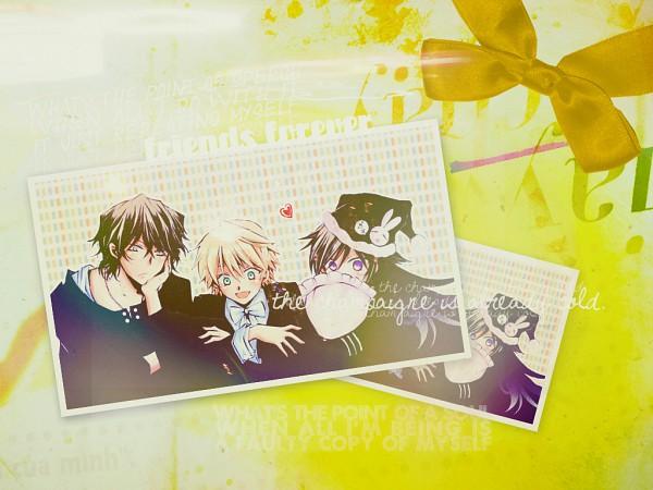 Tags: Anime, Mochizuki Jun, SQUARE ENIX, Pandora Hearts, Gilbert Nightray, Alice Baskerville, Oz Vessalius, Wallpaper