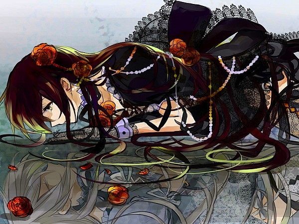 Tags: Anime, Mana Mannha, SQUARE ENIX, Pandora Hearts, Will of the Abyss, Alice Baskerville, Different Reflection, Opposites, Pixiv, Fanart