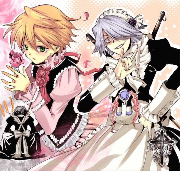 Tags: Anime, SQUARE ENIX, Pandora Hearts, Xerxes Break, Gilbert Nightray, Oz Vessalius, Emily (Pandora Hearts), Colorization