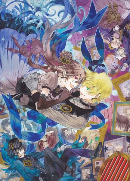 Tags: Anime, Mochizuki Jun, Pandora Hearts, Oz Vessalius, Xerxes Break, Alice Baskerville, Gilbert Nightray, Sharon Rainsworth, Mobile Wallpaper