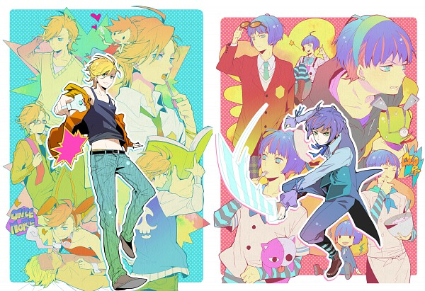 Tags: Anime, Konko, Panty and Stocking With Garterbelt, Anarchy Stocking, Anarchy Panty, Honekoneko, Chuck (PSG), Stuffed Cat