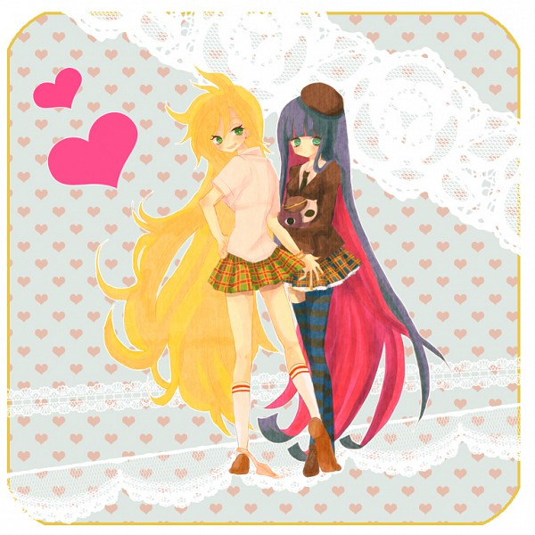 Tags: Anime, Panty and Stocking With Garterbelt, Anarchy Panty, Anarchy Stocking, Pixiv, Fanart