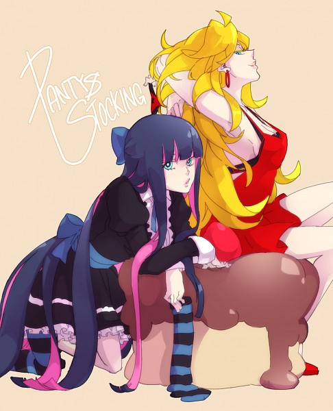 Tags: Anime, Panty and Stocking With Garterbelt, Anarchy Stocking, Anarchy Panty, Pixiv, Fanart