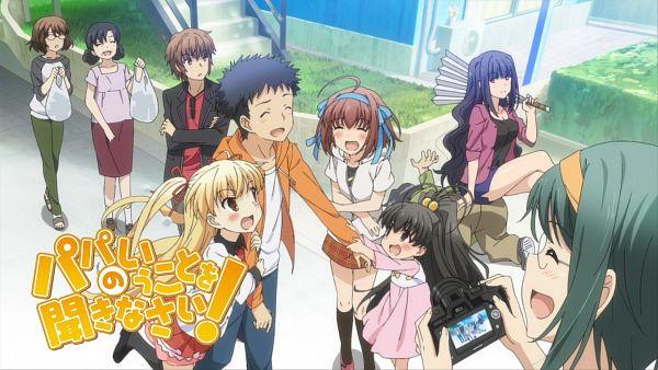 Tags: Anime, Papa no Iu Koto o Kikinasai!, Atarashi Kurumi, Segawa Yuuta, Takanashi Sora, Sako Shuntarou, Takanashi Miu, Oda Raika, Takanashi Hina, Midorikawa Sawako, Nimura Kouichi, Eyecatcher, Papa No Iu Koto O Kikinasai! - Eyecatcher, Listen To Me, Girls. I Am Your Father!