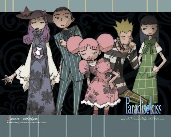 Tags: Anime, Yazawa Ai, Paradise Kiss, Yamamoto Daisuke, George Koizumi, Sakurada Miwako, Nagase Arashi, Hayasaka Yukari, Scan, Wallpaper, Official Art, Official Wallpaper