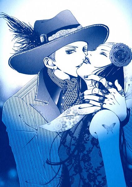 Tags: Anime, Yazawa Ai, Paradise Kiss, Hayasaka Yukari, George Koizumi, Shawl, Official Art, Scan, Mobile Wallpaper