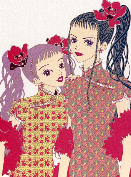 Tags: Anime, Yazawa Ai, Paradise Kiss, Hayasaka Yukari, Sakurada Miwako, Scan, Official Art