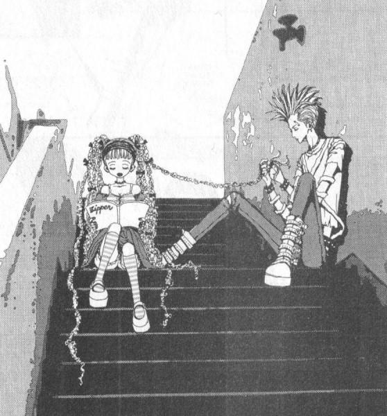Tags: Anime, Paradise Kiss, Sakurada Miwako, Nagase Arashi, Small Manga Page, Scan, Official Art, Manga Page