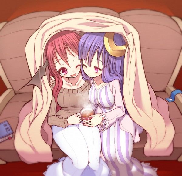 Tags: Anime, Pixiv Id 3746, Touhou, Koakuma, Patchouli Knowledge, Moon Clip, Fanart, Pixiv, Fanart From Pixiv, PatcheKoa