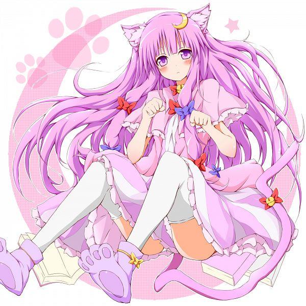 Tags: Anime, Karamone-ze, Touhou, Patchouli Knowledge, Moon Clip, Fanart From Pixiv, Fanart, Pixiv