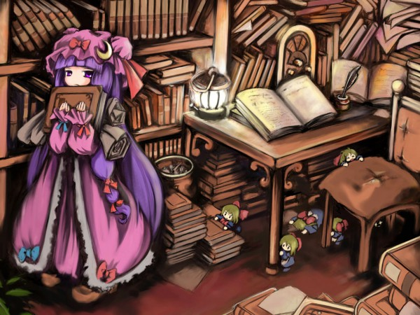 Tags: Anime, USUAL, Touhou, Shanghai, Patchouli Knowledge, Library
