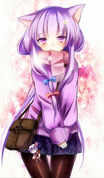 Tags: Anime, Aliprojectlove, Touhou, Patchouli Knowledge, Fanart From Pixiv, Fanart, PNG Conversion, Pixiv, Mobile Wallpaper