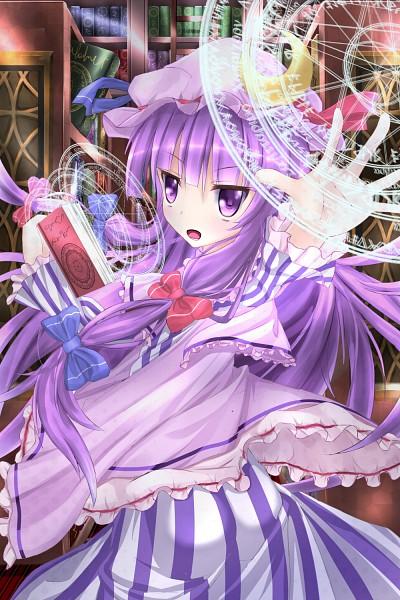 Tags: Anime, Hineko, Touhou, Patchouli Knowledge, Fanart, PNG Conversion, Pixiv, Mobile Wallpaper, Fanart From Pixiv