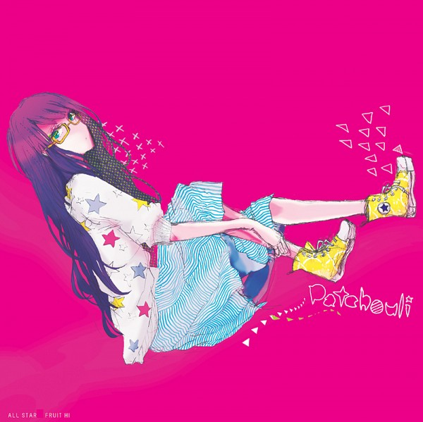 Tags: Anime, Sakuma, Touhou, Patchouli Knowledge, Star Print, Contemporary, Yellow Footwear, Converse, No Nose, PNG Conversion, Fanart, Fanart From Pixiv, Pixiv