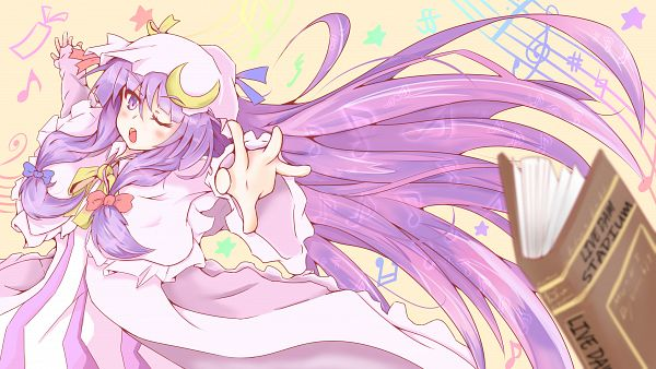 Tags: Anime, Pixiv Id 4397446, Touhou, Patchouli Knowledge, Moon Clip, Fanart, Fanart From Pixiv, Pixiv