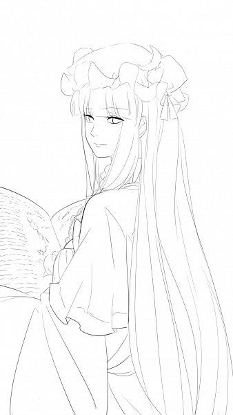 Tags: Anime, Pixiv Id 7439208, Touhou, Patchouli Knowledge, Sketch