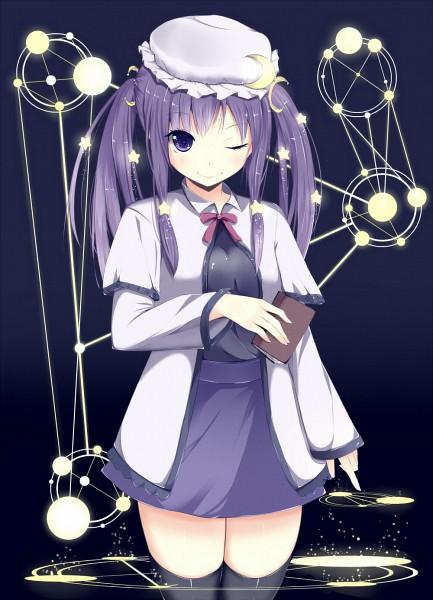 Tags: Anime, Amatsuki Hotaru, Touhou, Patchouli Knowledge, Fanart, Pixiv