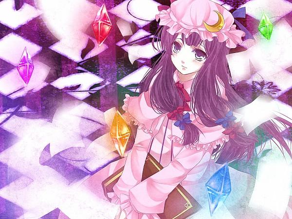 Tags: Anime, Pixiv Id 3286653, Touhou, Patchouli Knowledge, Philosopher's Stone (Touhou), Element, Fanart, Pixiv
