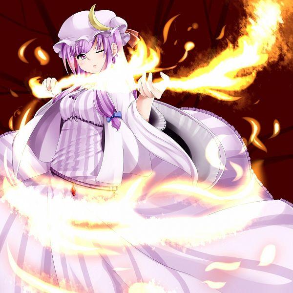 Tags: Anime, Miki Plus, Touhou, Patchouli Knowledge, Pixiv, Fanart