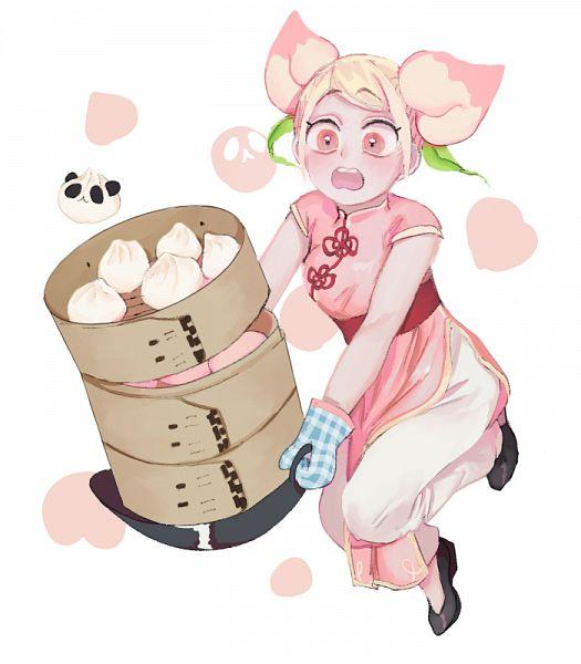 Tags: Anime, Pixiv Id 17420572, Cookie Run, Panda Dumpling, Peach Cookie, Fanart From Pixiv, Pixiv, Fanart