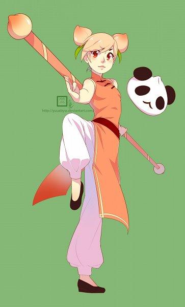 Tags: Anime, YuuAbyss, Cookie Run, Panda Dumpling, Peach Cookie, Tumblr, Fanart From Tumblr, Fanart