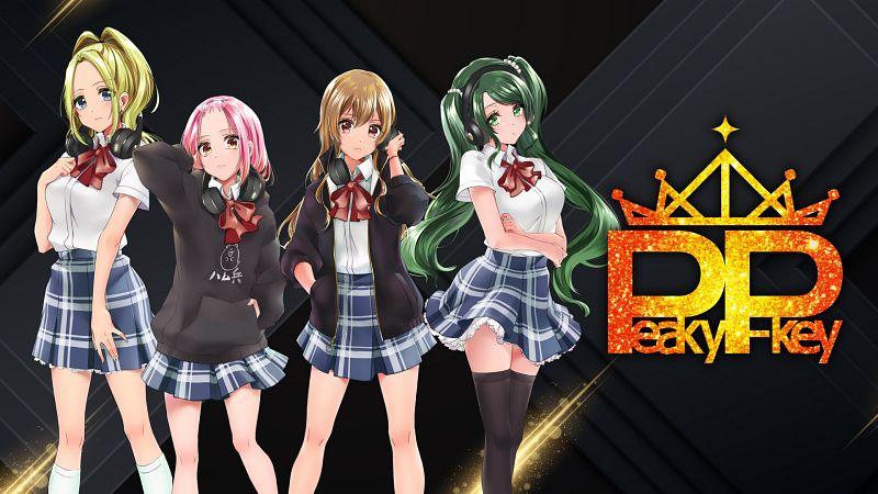 Tags: Anime, Yatile, Bushiroad, Dig Delight Direct Drive DJ, Yamate Kyouko, Shimizu Esora, Sasago Jennifer Yuka, Inuyose Shinobu, Official Art, Peaky P-key