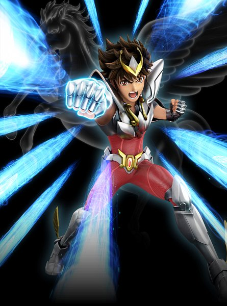 Tags: Anime, Toei Animation, Saint Seiya, Saint Seiya: Knights Of The Zodiac, Pegasus Seiya, Pegasus, Nishida Terumi, 3D, Key Visual, Official Art, Bronze Saints