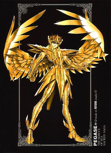 Tags: Anime, Future Studio, Saint Seiya, Sacred Saga, Pegasus Seiya, Sagittarius Seiya, Gold (Metal), Mobile Wallpaper, Bronze Saints