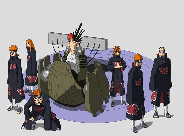 Tags: Anime, NARUTO, Jigokudou, Nagato (NARUTO), Shuradou, Pein, Chikushoudou (Male), Ningendou, Gakidou, Chikushoudou (Female), Akatsuki (NARUTO)