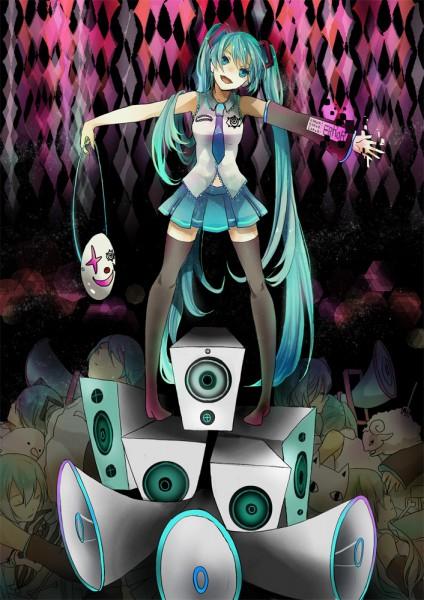 Tags: Anime, Sakuragi Kei, VOCALOID, Hatsune Miku, Nashimoto-p, Pentenshi ga Warau Koro ni, Mobile Wallpaper, When Crooks Laugh
