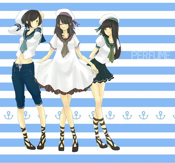 Tags: Anime, Maru / まる, Oumoto Ayano, Nishiwaki Ayaka, Kashino Yuka, J-Pop, Pixiv, Perfume (Band)