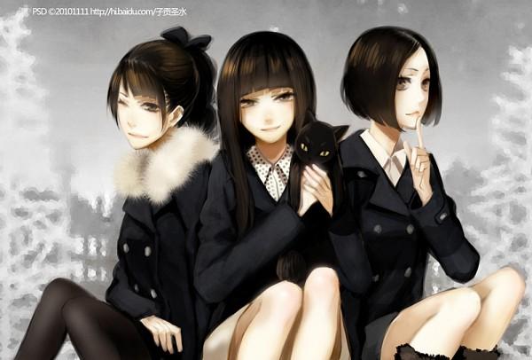 Tags: Anime, PSD, Nishiwaki Ayaka, Kashino Yuka, Oumoto Ayano, Nee (Perfume Song), Pixiv, Fanart, J-Pop, Perfume (Band)