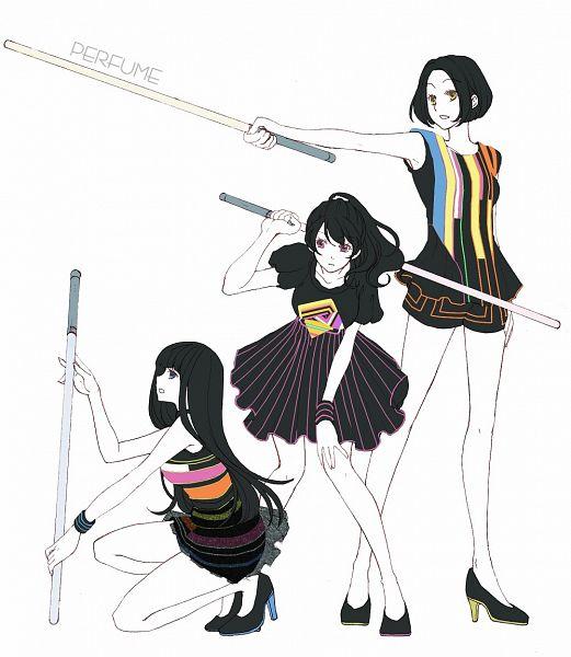 Tags: Anime, Maru / まる, Nishiwaki Ayaka, Kashino Yuka, Oumoto Ayano, Pixiv, Fanart, J-Pop, Perfume (Band)