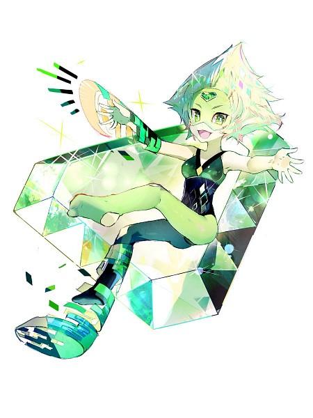 Tags: Anime, irineiji, Steven Universe, Peridot (Steven Universe), Green Gem, Twitter, Fanart