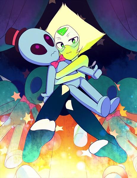 Tags: Anime, Pixiv Id 82465, Steven Universe, Peridot (Steven Universe), Hugging Toy, Fanart From Pixiv, Pixiv, Fanart
