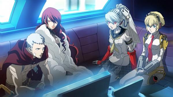 Tags: Anime, Persona 4: The Ultimate In Mayonaka Arena, Shin Megami Tensei: PERSONA 3, Shin Megami Tensei: PERSONA 4, Sanada Akihiko, Kirijou Mitsuru, Labrys, Aegis, CG Art, Facebook Cover, Persona 4 Arena