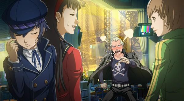 Tags: Anime, Persona 4: The Ultimate In Mayonaka Arena, Shin Megami Tensei: PERSONA 4, Tatsumi Kanji, Shirogane Naoto, Satonaka Chie, Amagi Yukiko, Cabbie Hat, CG Art, Facebook Cover, Persona 4 Arena