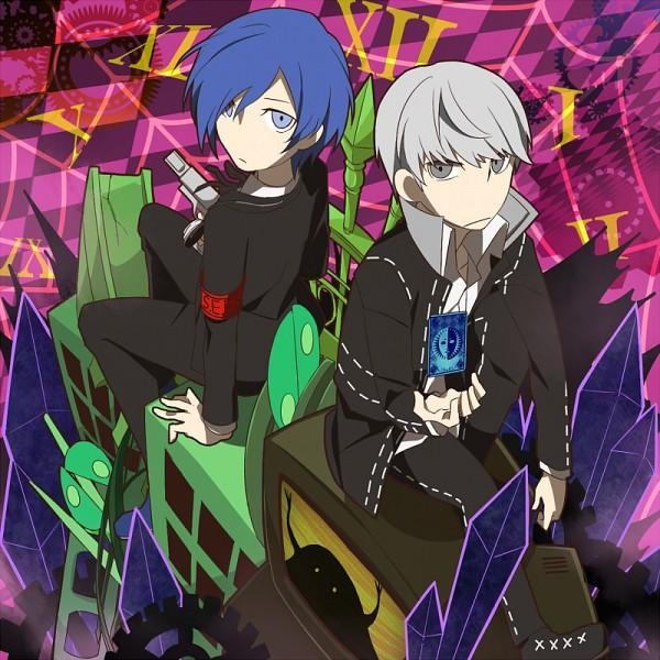 Tags: Anime, Sagura, Persona Q: Shadow Of The Labyrinth, Yuuki Makoto (PERSONA 3), Narukami Yu, Pixiv