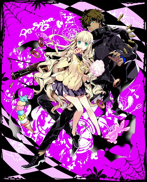 Tags: Anime, Futaba Hazuki, Persona Q: Shadow Of The Labyrinth, Zen (Persona Q), Rei (Persona Q), Pixiv, Fanart