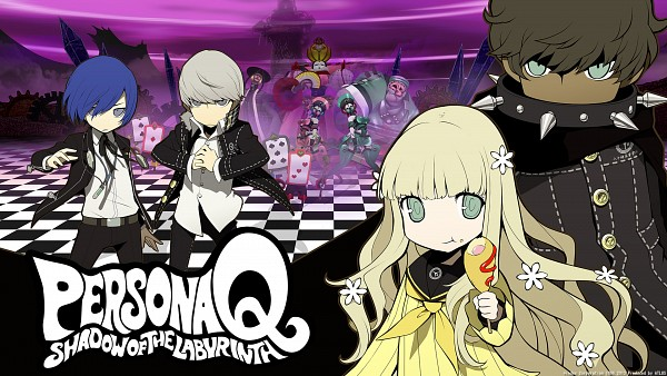 Tags: Anime, Atlus, Persona Q: Shadow Of The Labyrinth, Narukami Yu, Zen (Persona Q), Rei (Persona Q), Yuuki Makoto (PERSONA 3), Spiked Collar, Pogo Stick, HD Wallpaper, Wallpaper, Official Art