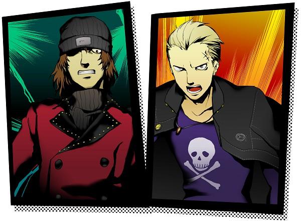 Tags: Anime, Persona Q: Shadow Of The Labyrinth, Shin Megami Tensei: PERSONA 4, Shin Megami Tensei: PERSONA 3, Aragaki Shinjirou, Tatsumi Kanji, Fanart