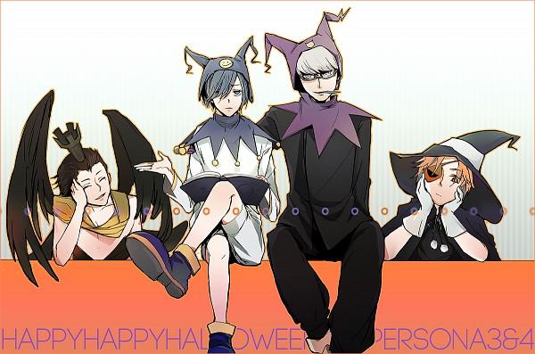 Tags: Anime, Piece5, Shin Megami Tensei: PERSONA 4, Shin Megami Tensei: PERSONA 3, Yuuki Makoto (PERSONA 3), Hanamura Yousuke, Narukami Yu, Mochizuki Ryoji, Nyx Avatar (Cosplay), Black Frost (Cosplay), Pyro Jack (Cosplay), Jack Frost (Shin Megami Tensei) (Cosplay)