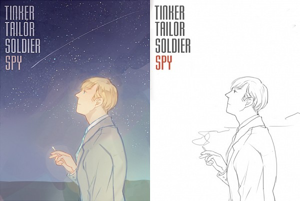 Tags: Anime, Pixiv Id 1068665, Tinker Tailor Soldier Spy, Peter Guillam, Pixiv, Line Art