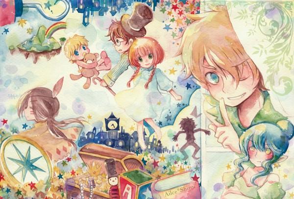 Tags: Anime, Jimouyu, Peter Pan, Peter Pan (Character), Captain Hook, Wendy Darling, Michael Darling, Tinkerbell (Peter Pan), John Darling, Tiger Lily (Peter Pan), Treasure Chest, Hook (Hand), Native American Clothes