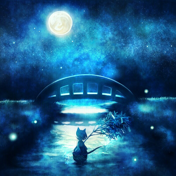 Tags: Anime, Petit Comet, Kamisama Hajimemashita, Tomoe (Kamisama Hajimemashita), Tanabata, Boat, Bridge, Original, Pixiv