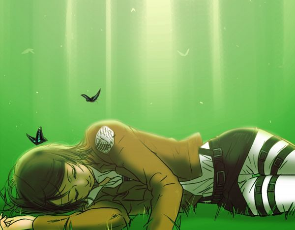 Tags: Anime, Pixiv Id 2588330, Attack on Titan, Petra Ral, Laying on Grass, Pixiv, Fanart, Fanart From Pixiv
