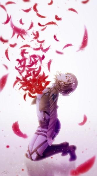 Tags: Anime, Achikoako, Attack on Titan, Petra Ral, Mobile Wallpaper, Pixiv, Fanart, Fanart From Pixiv