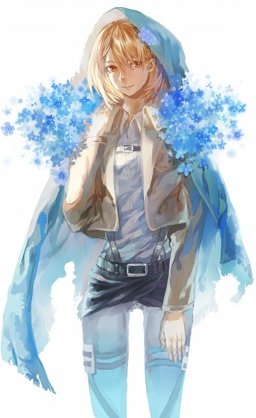 Tags: Anime, Pixiv Id 3955191, Attack on Titan, Petra Ral, Forget Me Not (Flower), Pixiv, Fanart, Fanart From Pixiv, Mobile Wallpaper