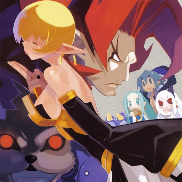 Tags: Anime, Harada Takehito, Nippon Ichi Software, Phantom Kingdom, Makai Senki Disgaea, Zetta, Salome (Phantom Kingdom), Prinny, Alexander (phantom Kingdom), King Drake, Pram, Trenia, Scan